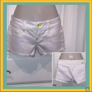 Dollhouse white cutoff shorts